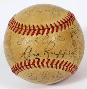 1940 N. Y. Yankees Team Signed Baseball