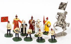 Russian And French Lead And Pewter Toy Soldiers
