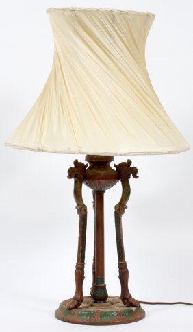 Empire Style Wrought Iron Table Lamp C1920