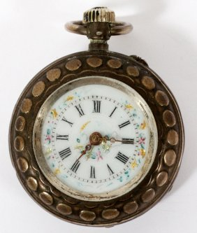 Antique Silver Open Face Pocket Watch C1900