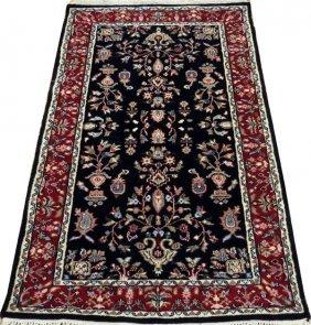 Indo - Sarouk Hand Woven Wool Rug