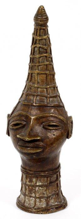 African Bronze Bust