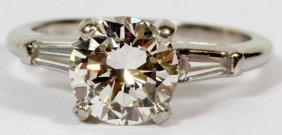 Platinum & 2.07ct Diamond Solitaire Engagement Ring