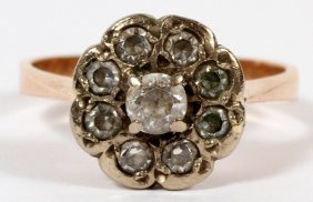 14kt Yellow Gold & Diamond Cluster Ring
