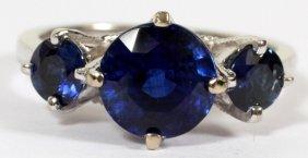 2.78ct Natural Kyanite & .80ct Sapphire Ring