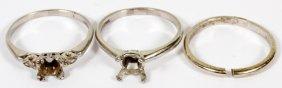 Platinum & Gold Ring Settings, Three