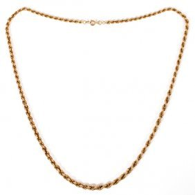 14kt Yellow Gold Rope Twist Necklace