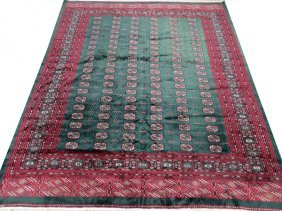 Bokhara Wool & Silk Blend Oriental Rug