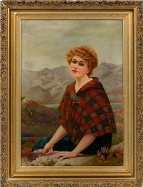 Ada M. Piper Oil Portrait 1909