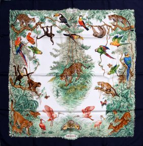 Hermes 'equateur' Silk Scarf