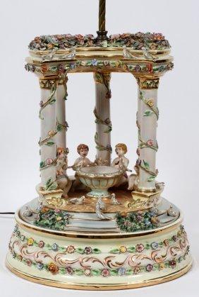Azzolin Bros. Italian Pottery Colonnade Lamp