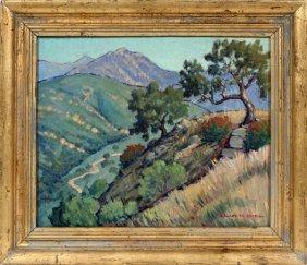 Edward Willis Hicks Oil On Masonite