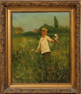 Gilbert Gaul Oil On Canvas