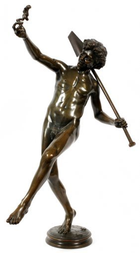 Hippolyte Alexandre Julien Moulin Bronze Sculpture