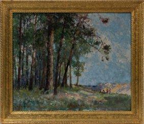 William Lee Hankey Oil On Canvas
