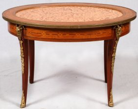 French Louis Xv Style Mahogany Oval Table 19th C
