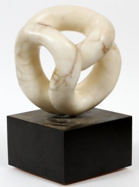Marble Sculpture & Rotating Base