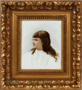 Porcelain Portrait Of Young Girl