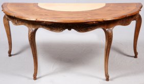 Contemporary French Style Walnut Writing Table