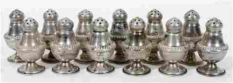 10583: DUNKIRK STERLING SILVER SALT & PEPPER SHAKERS