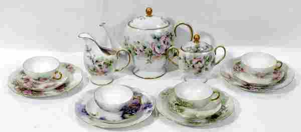 FRENCH & BAVARIAN PORCELAIN LUNCHEON & TEA SET