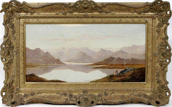 12009: LESLIE, OIL ON CANVAS, SCOTTISH LANDSCAPE