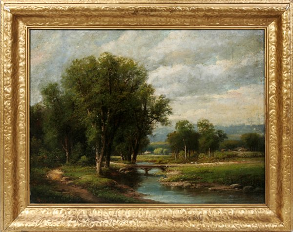 12022: FRENCH SCHOOL, OIL ON CANVAS, LANDSCAPE