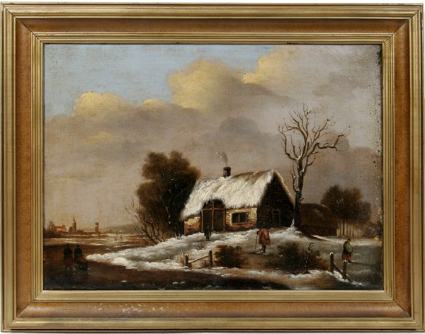12023: SCOTTISH SCHOOL, OIL ON CANVAS, LANDSCAPE