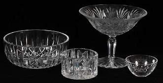 WATERFORD &TIFFANY 'LISMORE'&'MILLENNIUM' TABLEWARE