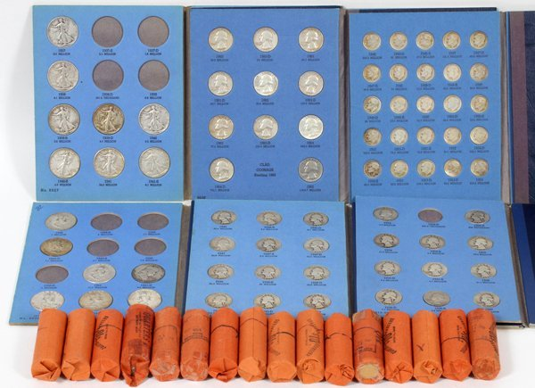U.S. COINAGE INCLUDING: SILVER DOLLARS 1/2 DOLLARS