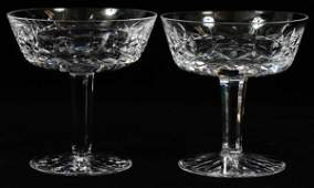 WATERFORD 'LISMORE' CRYSTAL SAUCER CHAMPAGNES