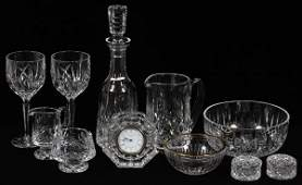 WATERFORD 'LISMORE' & OTHER CRYSTAL BARWARE
