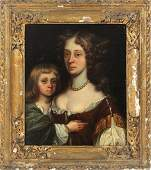 SCHOOL OF SIR PETER LELY 18TH C. OIL ON CANVAS