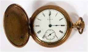 ELGIN GOLD FILLED HUNTING CASE POCKET WATCH 1912
