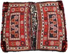 TURKISH HAND WOVEN WOOL SADDLEBAG 1900