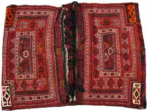 TURKISH HAND WOVEN WOOL SADDLE BAG