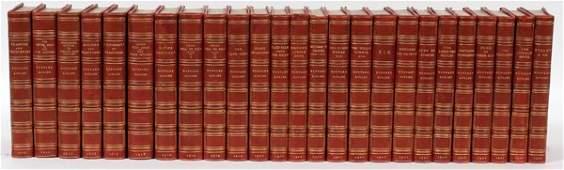 RUDYARD KIPLING LEATHER BOUND NOVELS 19191922