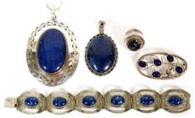 MEXICAN ITALIAN & OTHER STERLING & LAPIS JEWELRY