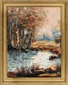 EDWARD REDFIELD OIL ON MASONITE