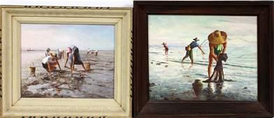 ELIAS LAXA OILS ON BOARD 1963 & 1956
