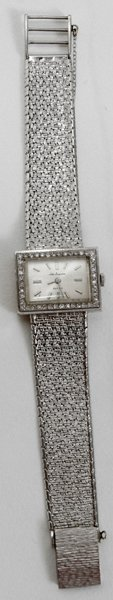 020010: JULES JURGENSEN WHITE GOLD & DIAMOND WATCH