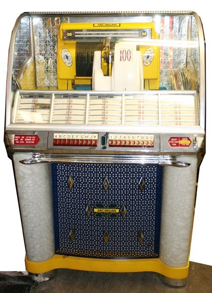 "020014: SELECTO-O-MATIC ""100"" JUKE BOX, C.1953, H 53"""