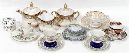 021428: ANTIQUE BAVARIAN PORCELAIN 3-PIECE TEA SET