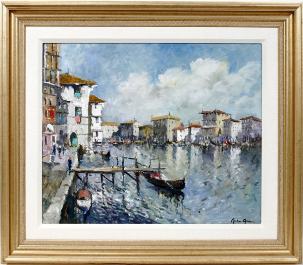 """022005: JOHN AMBROSE OIL ON CANVAS, """"GRAND CANAL"""""""