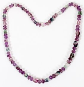 Brazilian Natural Amethyst Bead Necklace