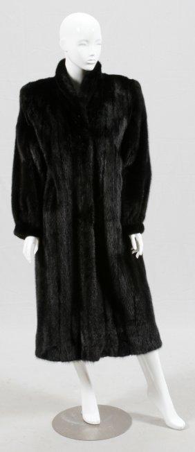 Lady's Mink Long Coat Size 16