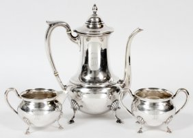 M. Fred Hirsch Co. Sterling Coffee Set Three Pieces