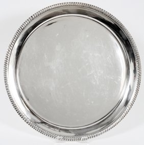 Frank M. Whiting Sterling Round Tray