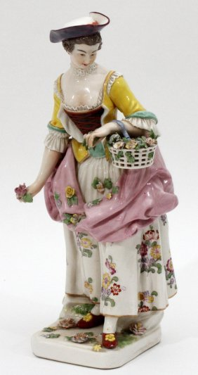 German Porcelain Female Figure C. 1800