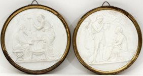 Royal Copenhagen Bisque Relief Plaques Late 19th C.
